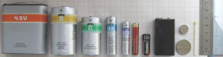 Разновидности батареек