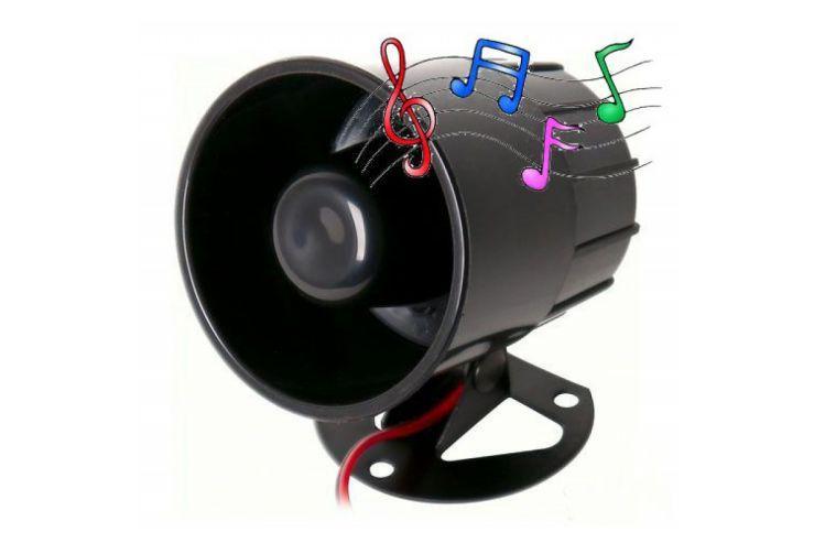 Музыкальная говорящая сирена сигнализации